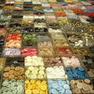 Buttons Shanghai textile market