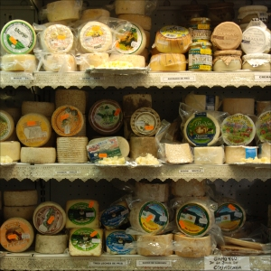 cheese shop Llanes N Spain 2013